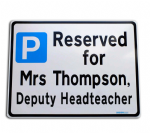 Deputy Head Parking Sign Metal faced | Custom Text